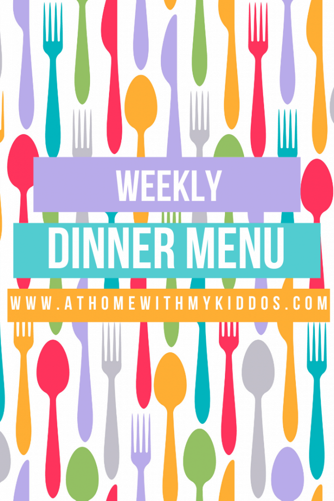 Are you meal planning for the week and need ideas for dinners? Here is my weekly dinner menu to help inspire you.